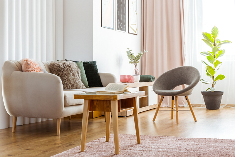 Consider small-scale furniture.