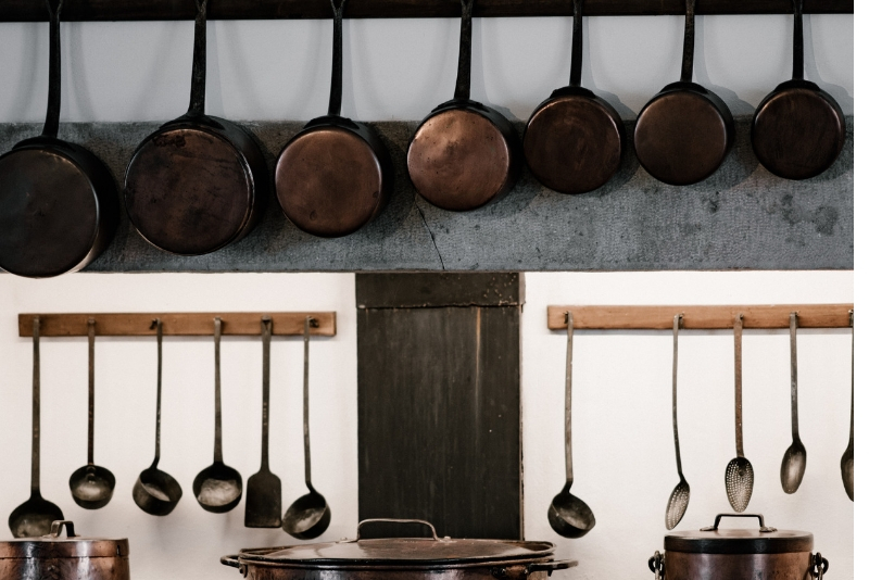 Hang pots and pans