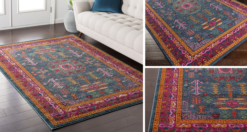 Amma- Updated Traditional Medallion Area Rug